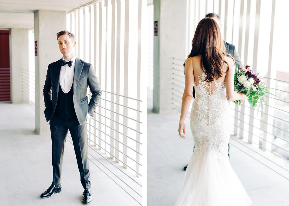 Tucson, Arizona Wedding, First Look for Bride & Groom