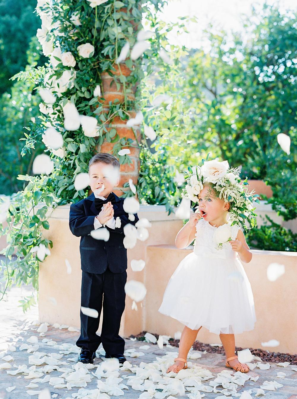 Royal Palms Wedding, Ring Bearer and Flower Girl