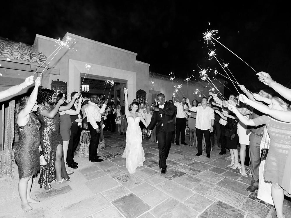 DC Ranch Wedding, Reception, Sparkler Exit