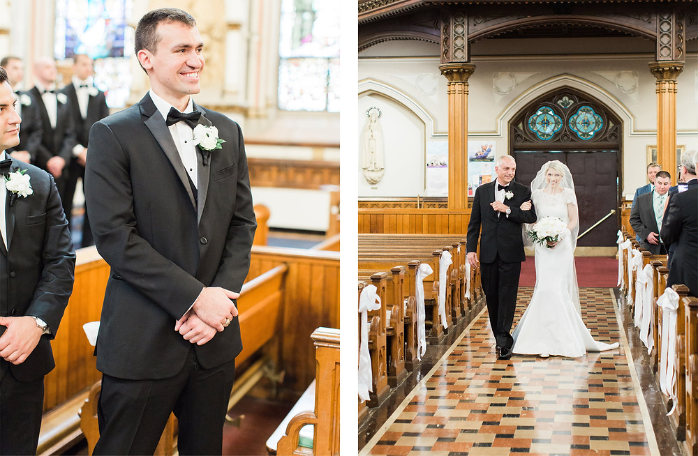 Boston Wedding, Church Ceremony, First Look