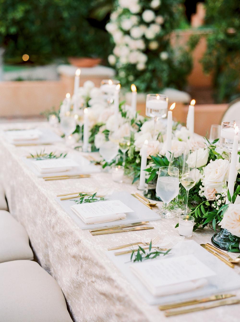 Royal Palms Wedding, Reception Details