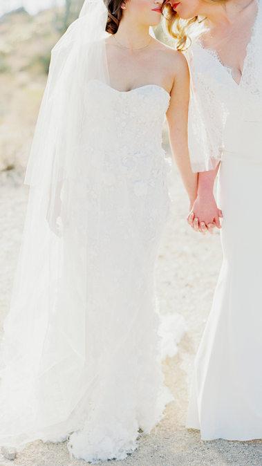 Affectionate Monochromatic Four Seasons Wedding