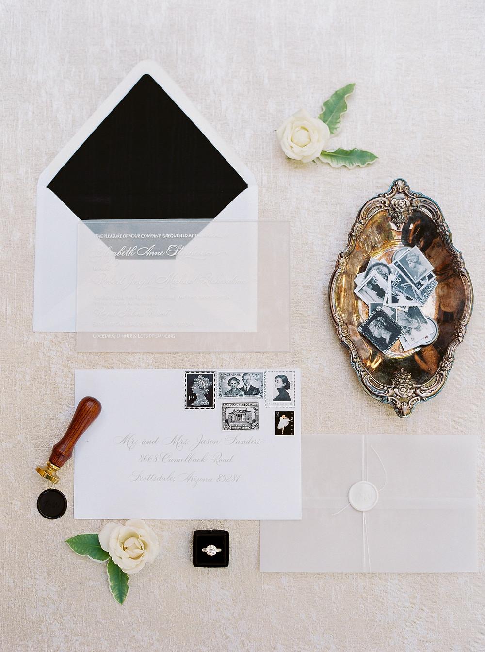 Royal Palms Wedding, Details, Invite Suite