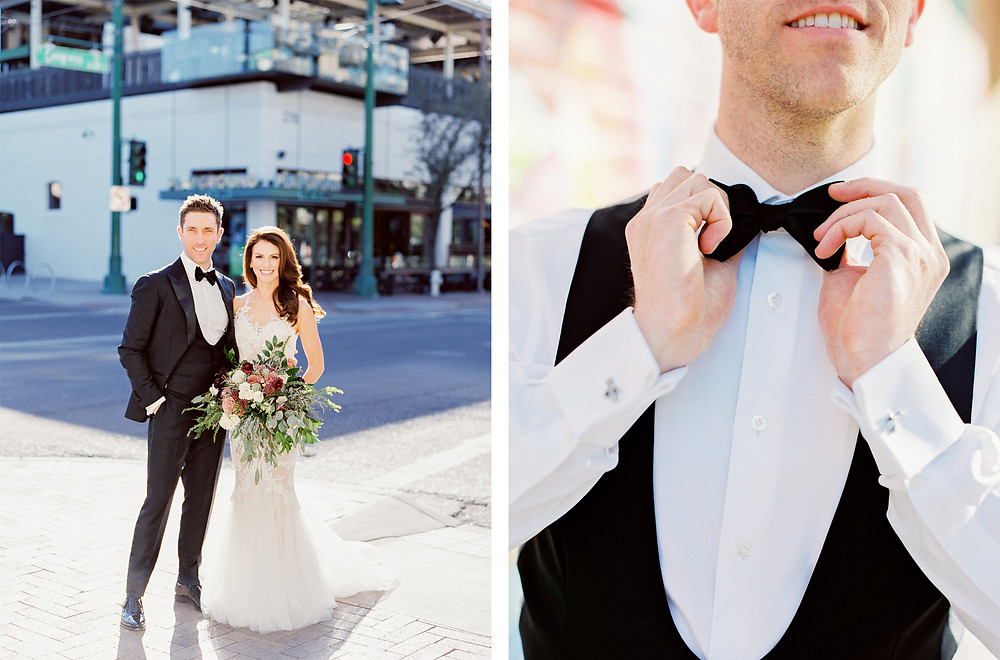 Tucson, Arizona Wedding, Groom's Suit Detail Shot