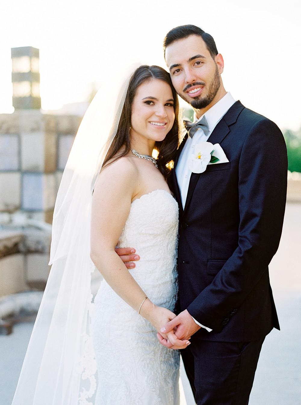 Arizona Biltmore Classic White Wedding, Couple Portraits