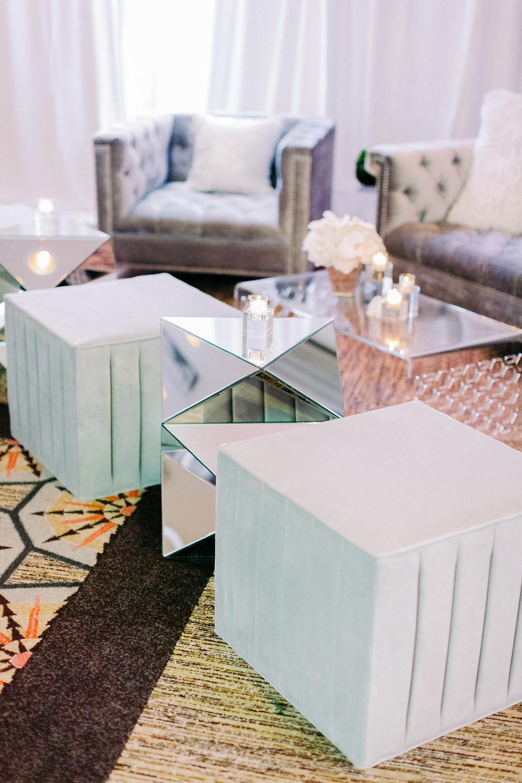 Arizona Biltmore Classic White Wedding, Reception Details, Lounge Seating