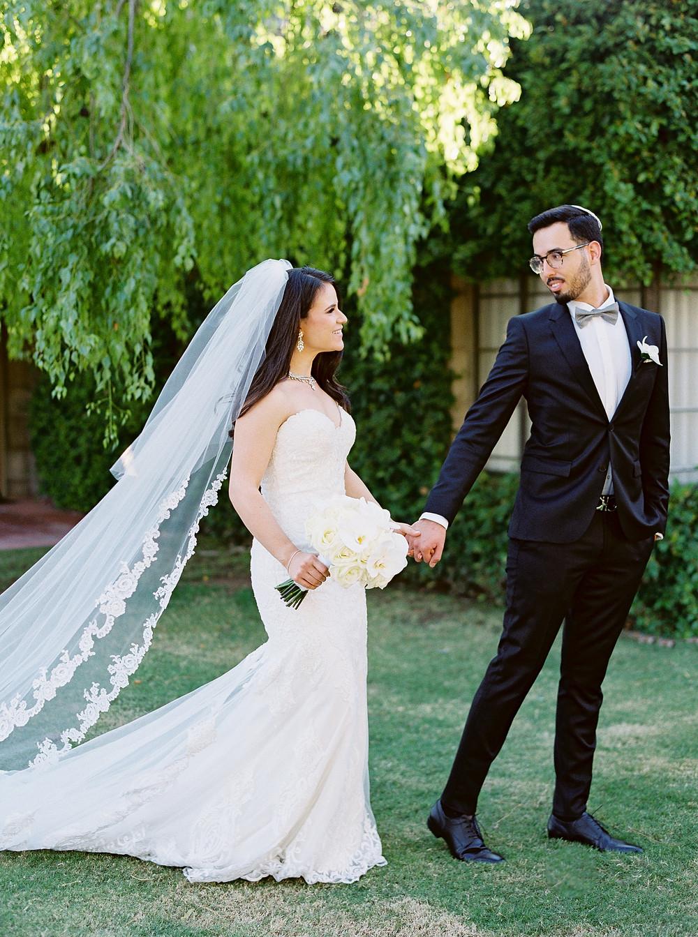 Arizona Biltmore Classic White Wedding, Bride & Groom