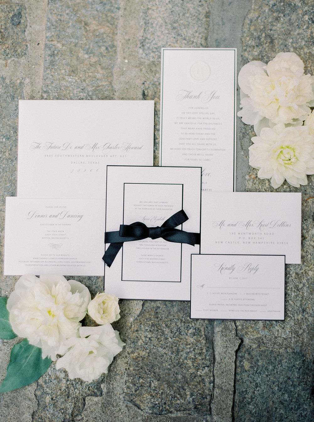 Boston Wedding, Invitation Suite, Details