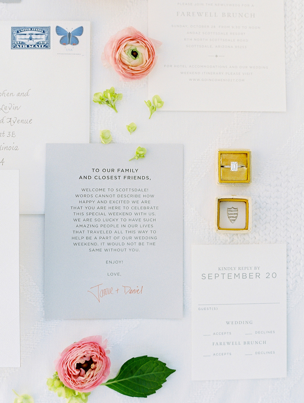 Andaz Scottsdale Wedding, Wedding Invitation Suite