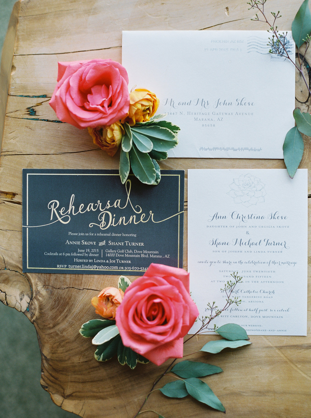 Ritz Carlton Dove Mountain Wedding, Details, Invitation Suite
