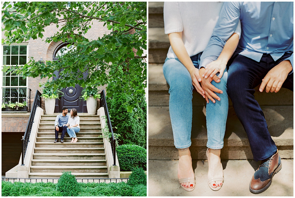 Chicago Engagement Session Down town