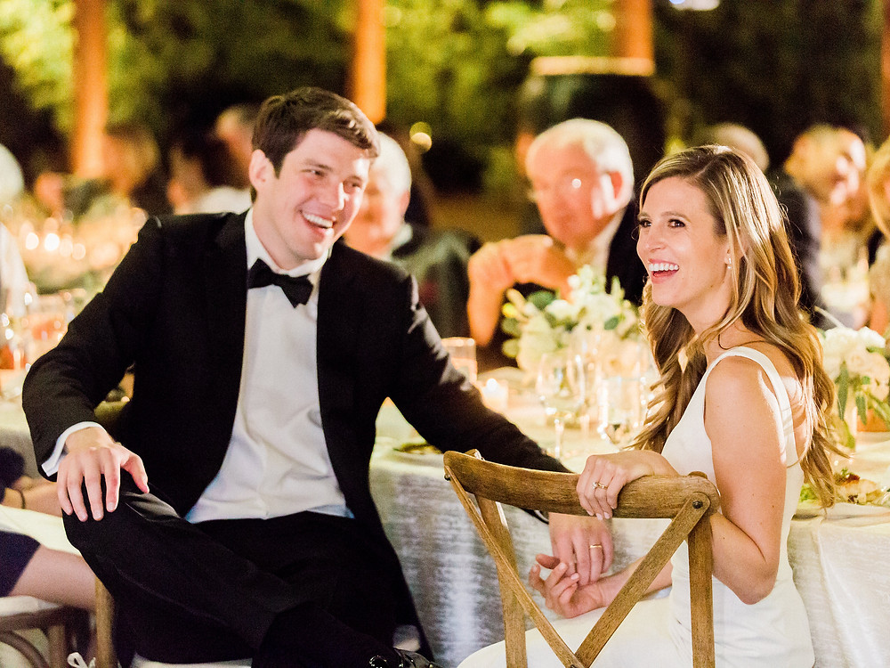 Four Seasons in Scottsdale Arizona Dinner Al Fresco on Main Lawn, Couple during Toasts
