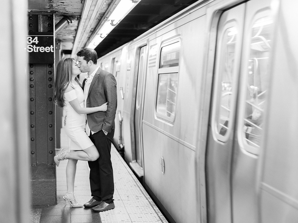 New York City Subway Engagement Shoot | New York, NY | Elyse Hall Photography