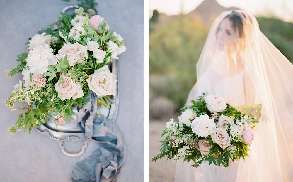 Four Seasons at Troon North in Scottsdale Arizona, Bridal Portrait, Bouquet