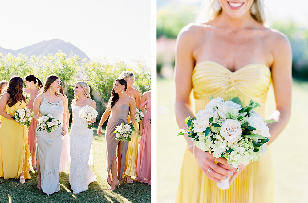 Andaz Scottsdale Wedding, Bride and Bridesmaids Portrait