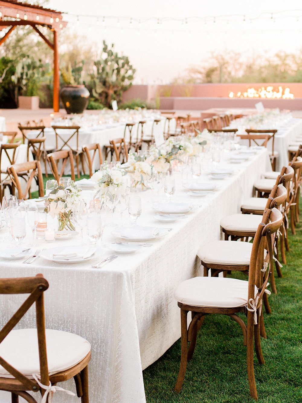 Four Seasons in Scottsdale Arizona Dinner Al Fresco on Main Lawn