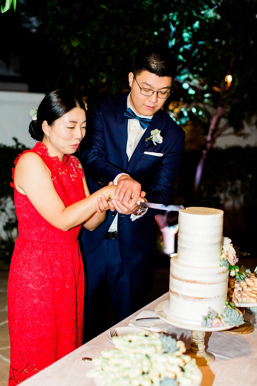 El Chorro Wedding, Traditional Chinese Wedding, Cake Cutting
