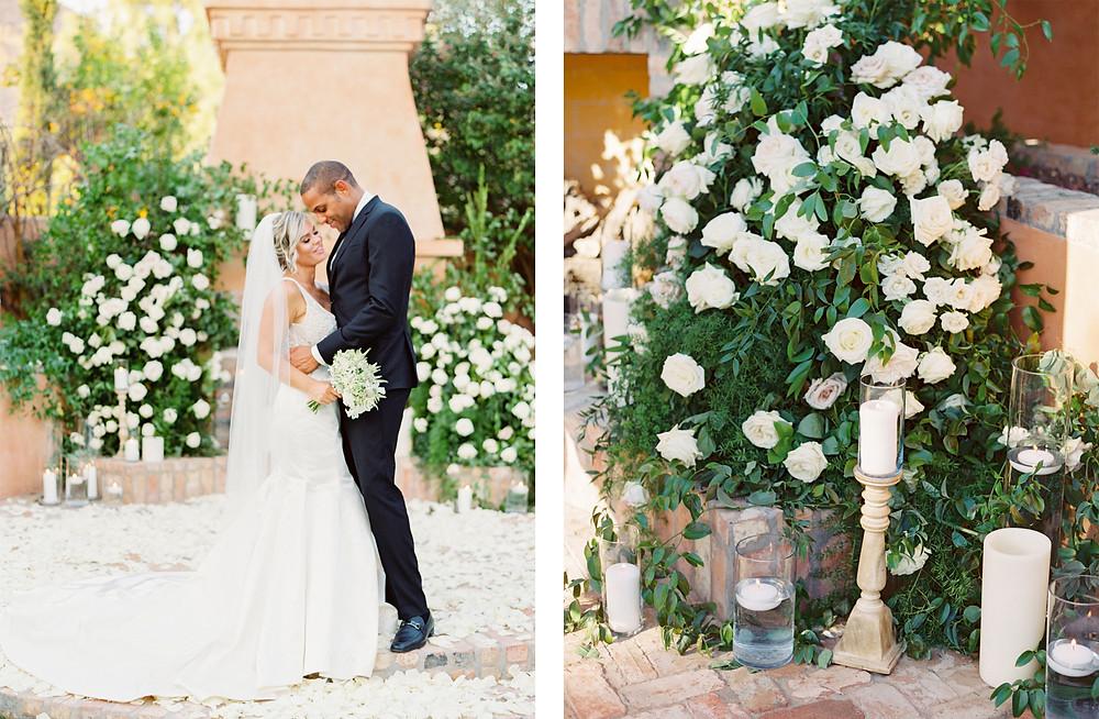 Royal Palms Wedding, Ceremony Details, Bride & Groom