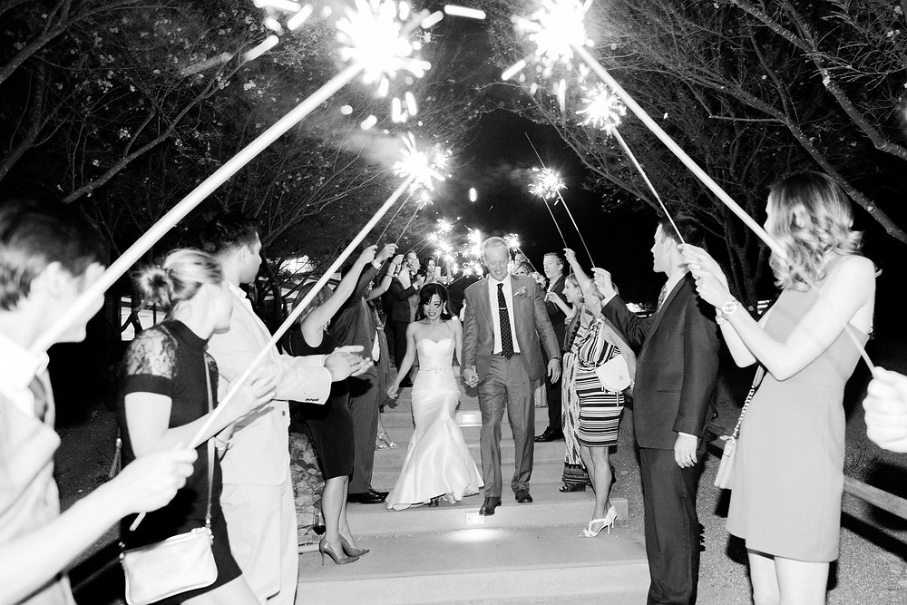 Ritz Carlton Dove Mountain Wedding, Sparkler Exit