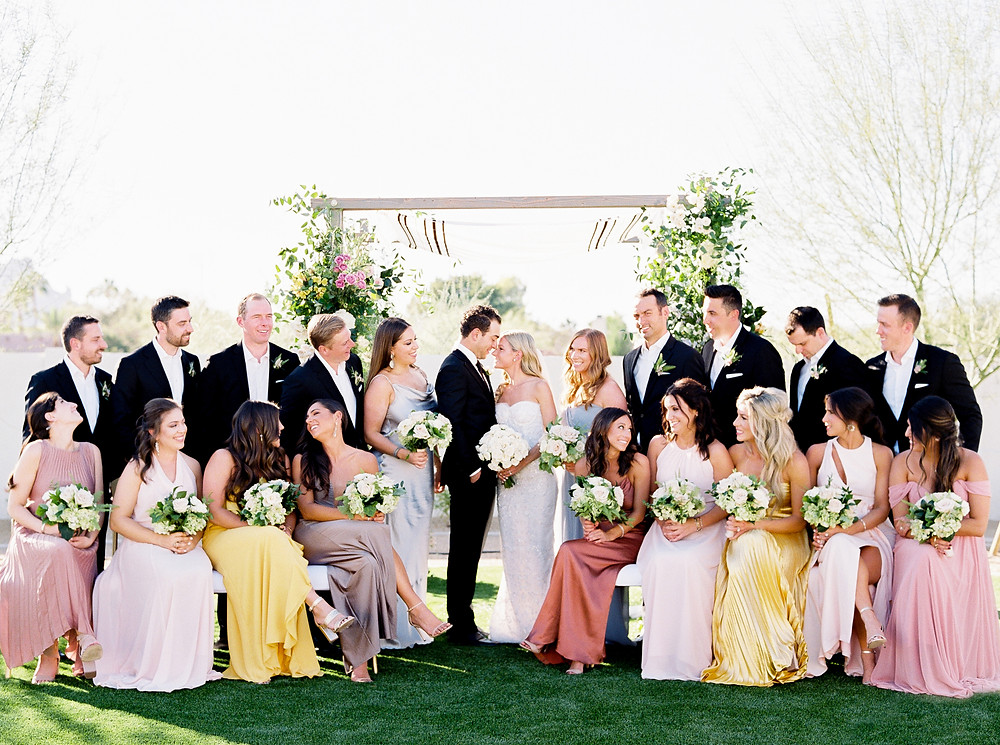 Andaz Scottsdale Wedding, Bridal Party Portrait