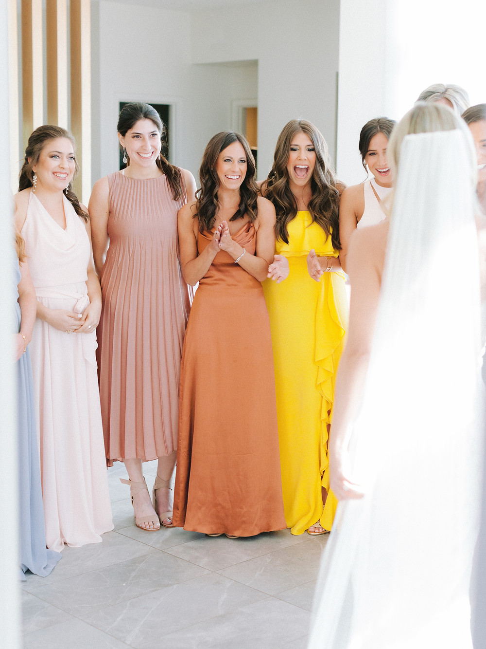 Andaz Scottsdale Wedding, Bridal Reveal to Bridesmaids