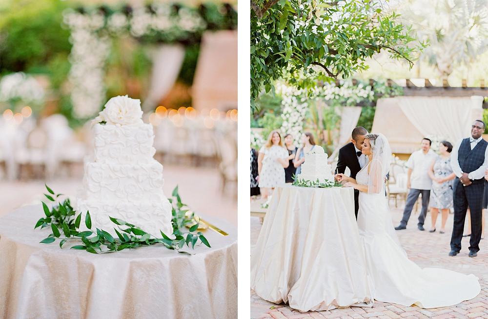 Royal Palms Wedding, Reception, Wedding Cake, Cake Cutting