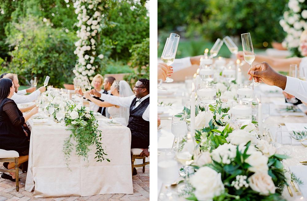 Royal Palms Wedding, Reception Details, Toast