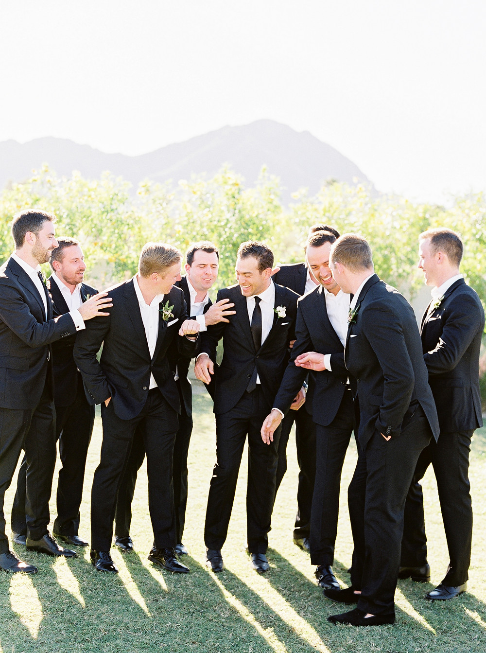 Andaz Scottsdale Wedding, Groom and Groomsmen Portrait