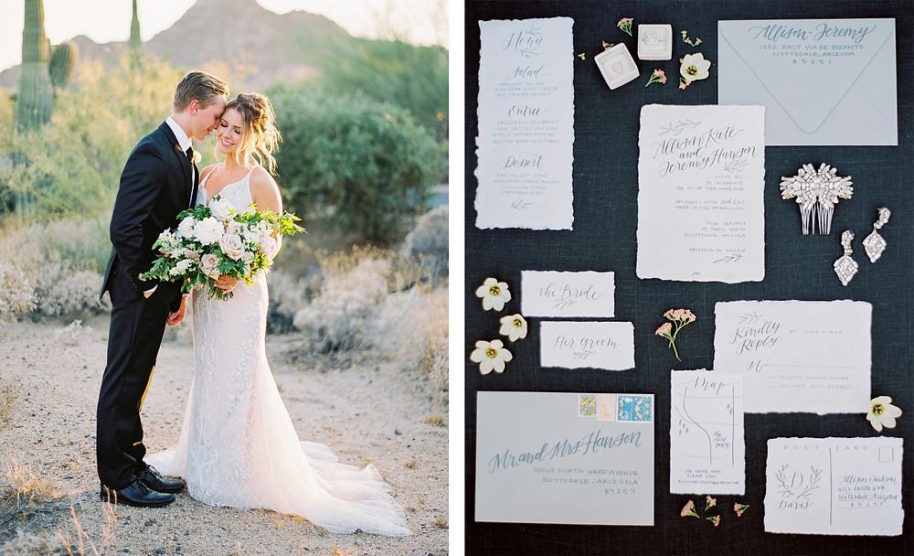 Four Seasons at Troon North in Scottsdale Arizona, Couple Portrait, Invitation Suite