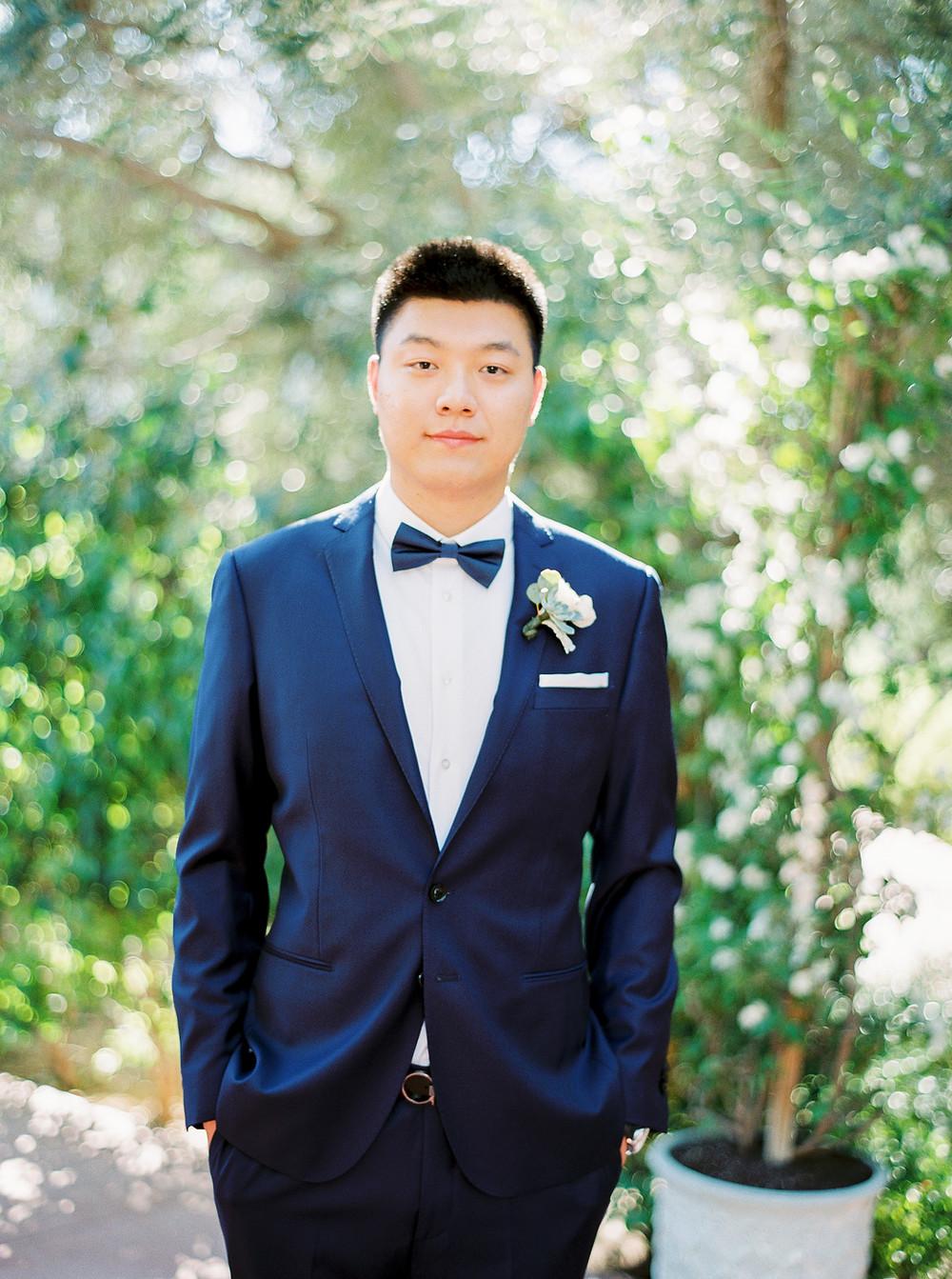 El Chorro Wedding, Traditional Chinese Wedding, Groom