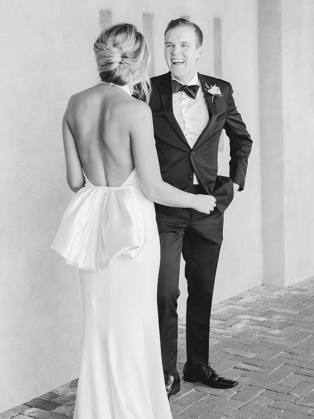 Royal Palms Wedding First Look | Scottsdale, AZ | Elyse Hall Wedding Photography