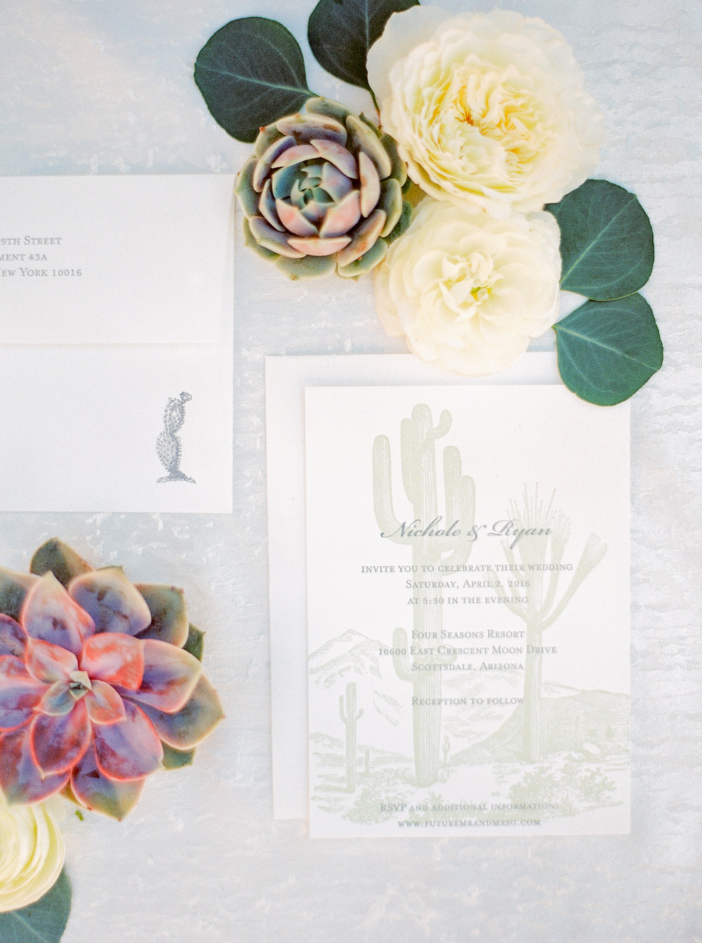 Four Seasons in Scottsdale Arizona Invitation Suite Details