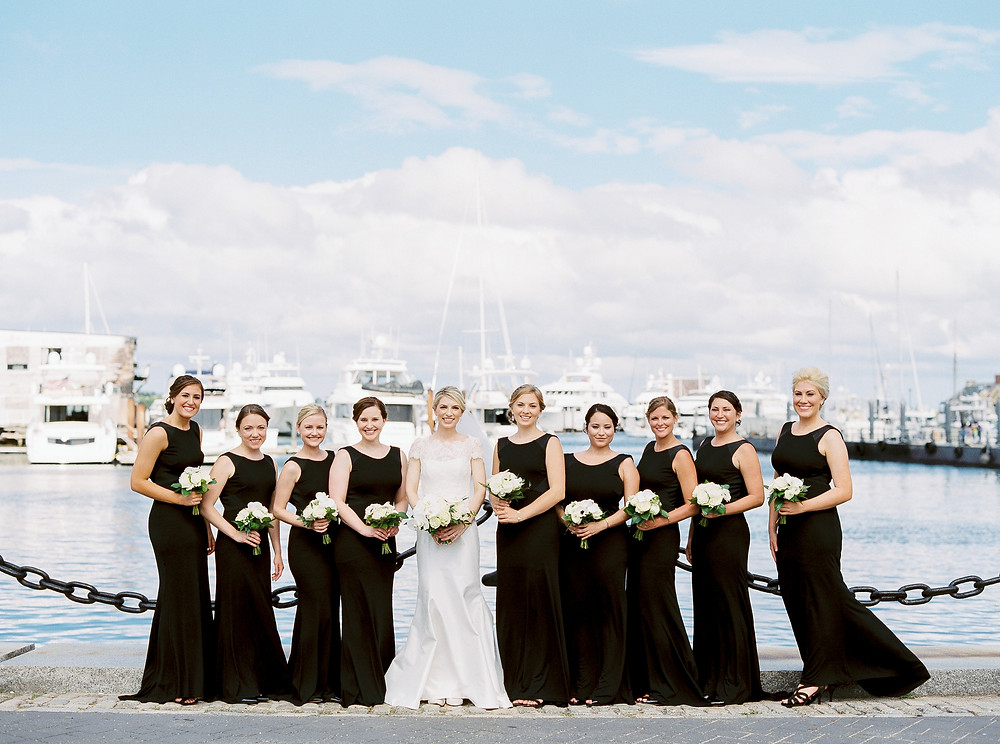 Boston Wedding, Bridal Party Portraits