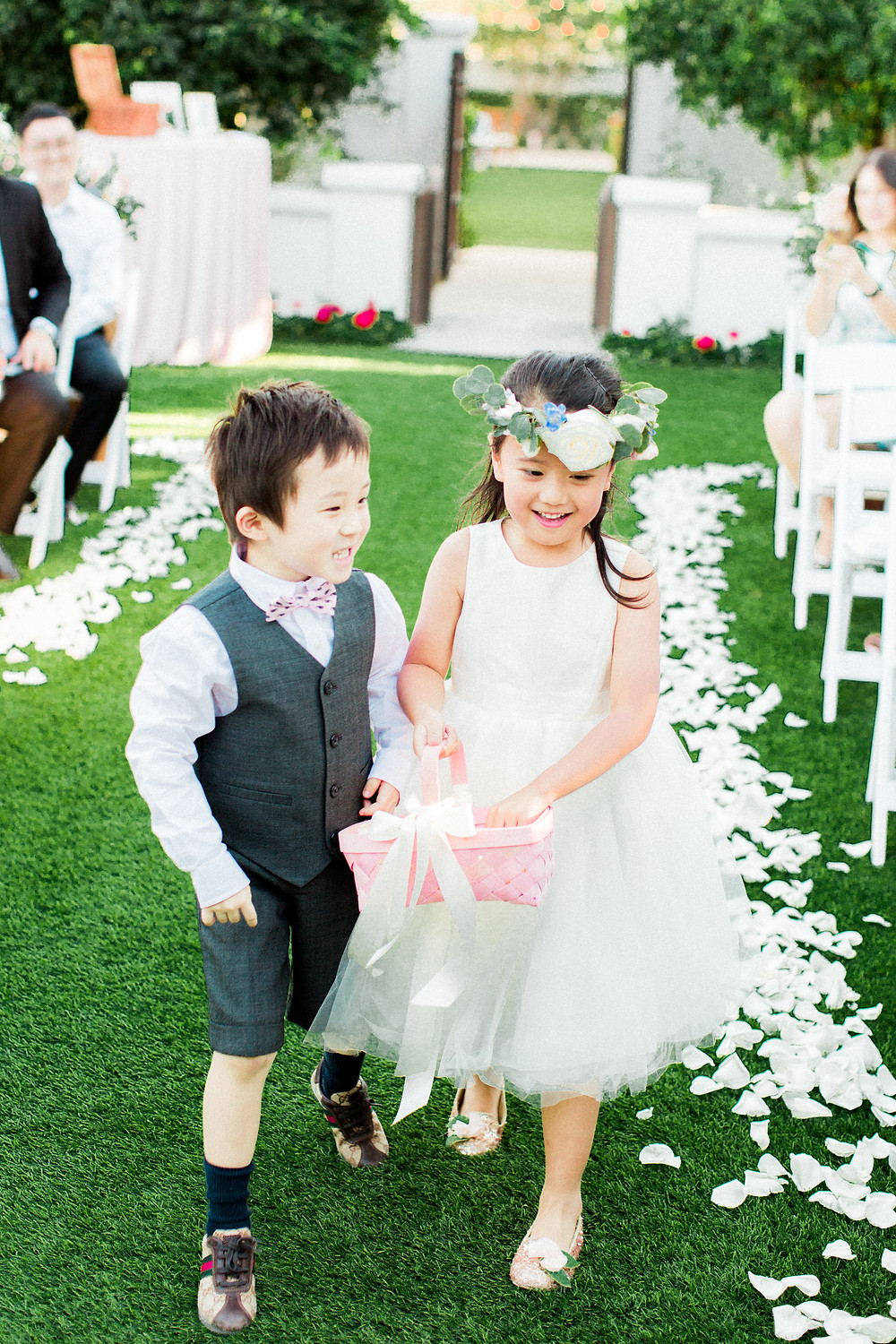 El Chorro Wedding, Traditional Chinese Wedding, Ceremony Details, Ring Bearer and Flower Girl