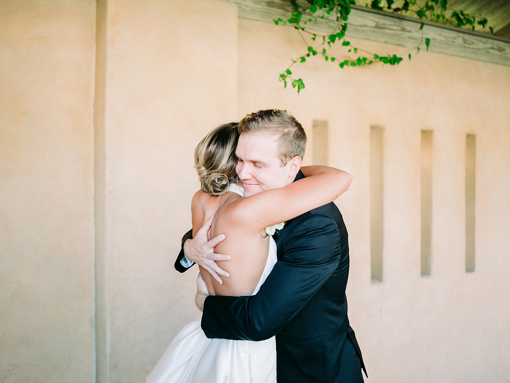 Royal Palms Wedding First Look | Scottsdale, AZ | Elyse Hall Wedding Photography