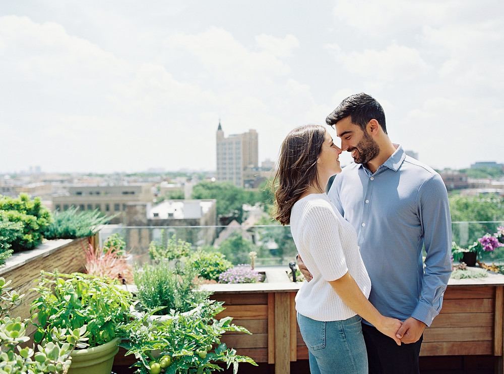 Chicago Rooftop Engagement Session