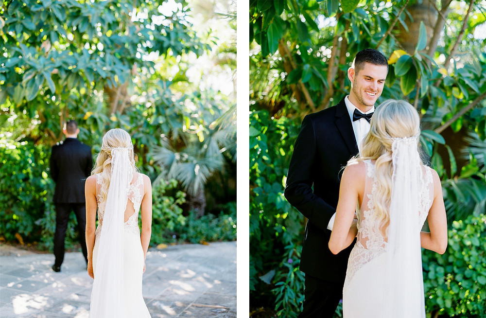 Royal Palms Wedding, First Look