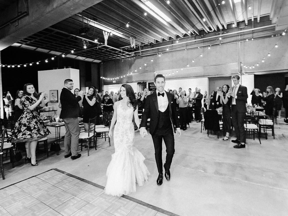 Tucson, Arizona Wedding, Reception, Bride & Groom Grand Entrance