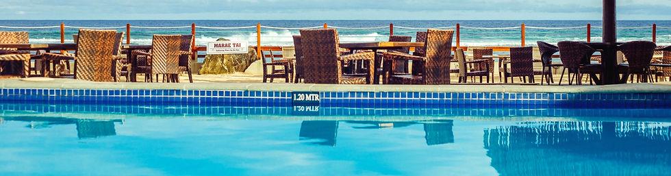 Pool Across pool to marae tai and ocean_