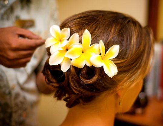 Spa - Flowers on the hair - arrangement_