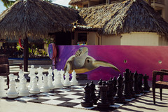 Giant Chess outside Activities Hut