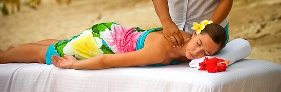 Spa - Beach Massage - Masseur facing cam