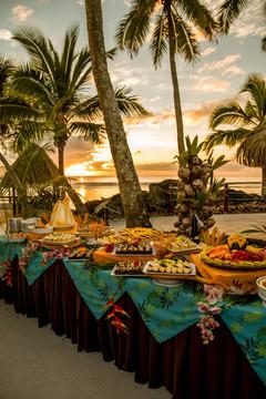 Buffet Feast at Sunset