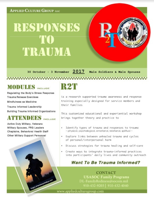 Responses to Trauma Training Flyer
