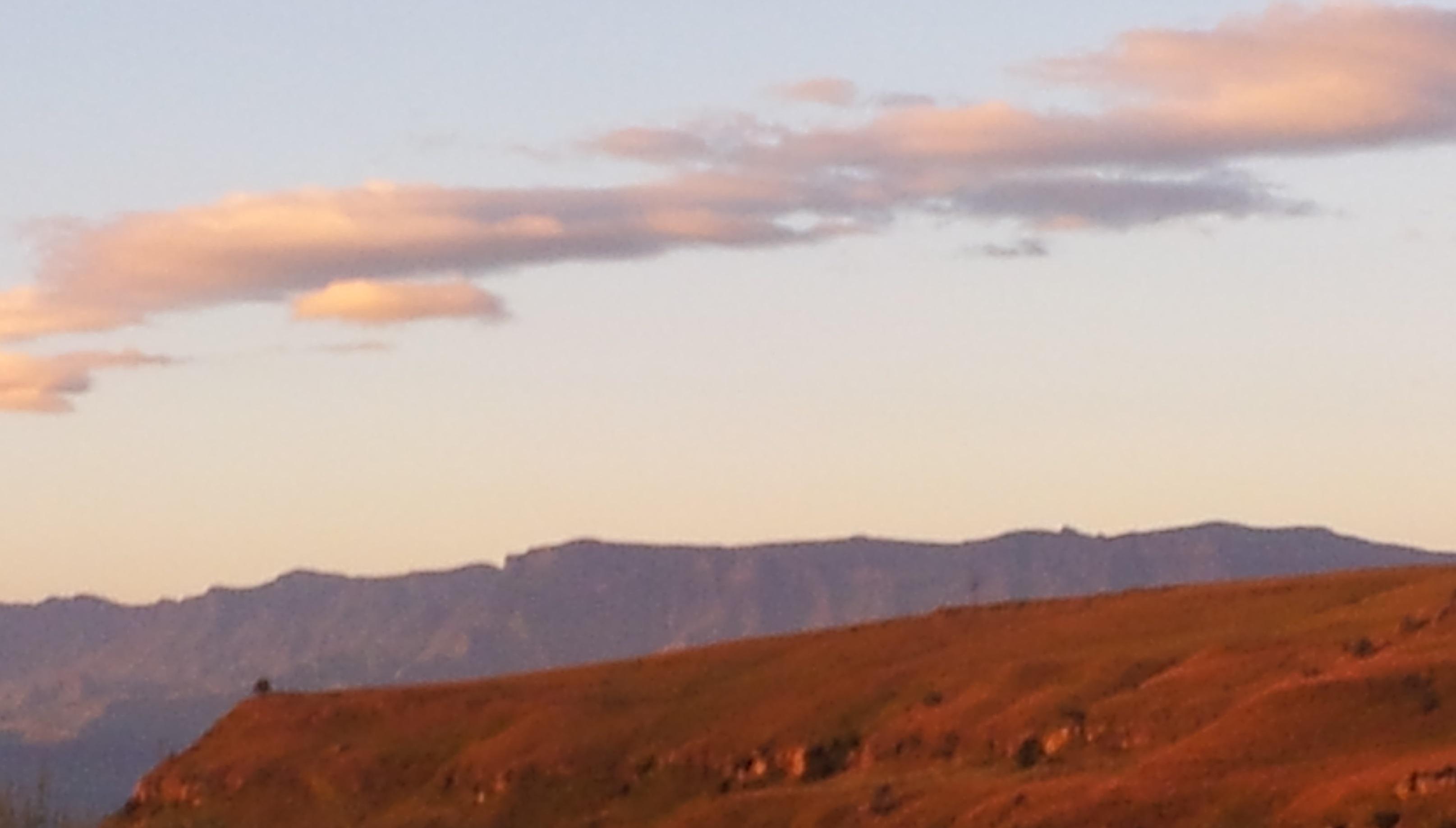 Early morning light over the Berg