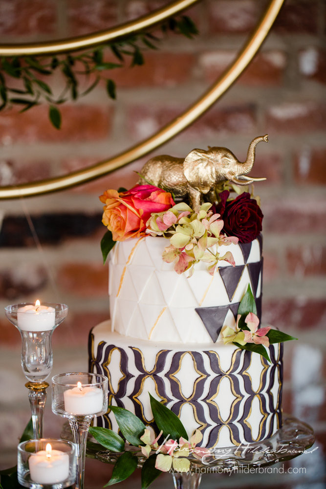 A Floral Affair - Overland Geometric Shoot- Cake