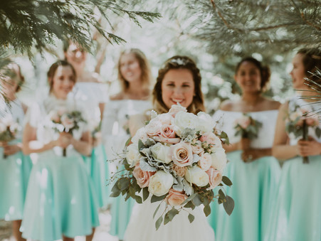 Dusty Pink and Mint {Real Wedding}