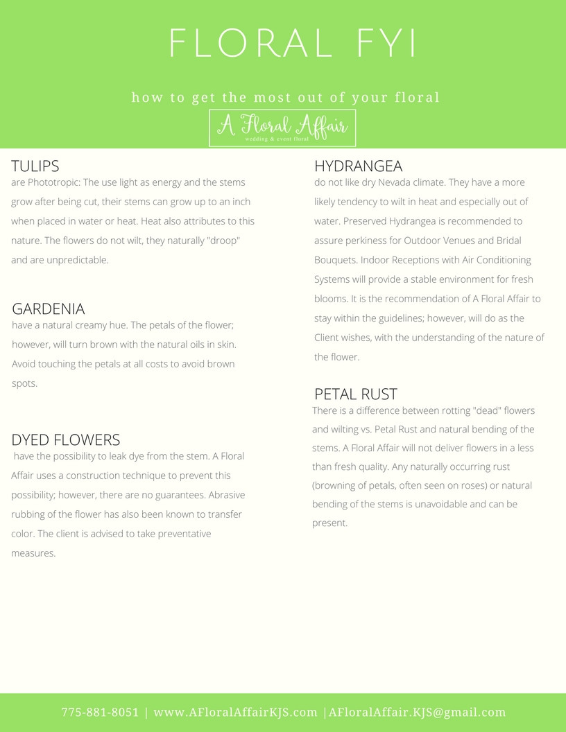 Floral FYI- How to get the Most out of Your Floral