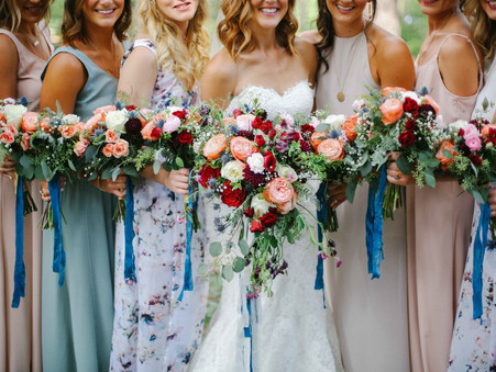 Colorful and Tahoe Blue Floral (Real Wedding)