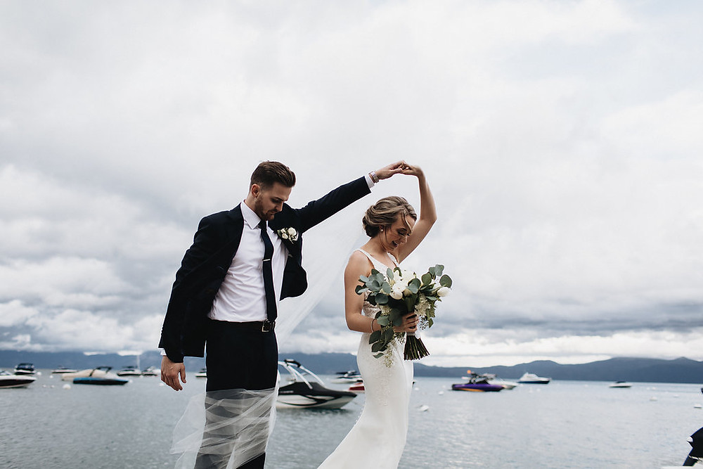 A Floral Affair-Moody Blue Lake Tahoe Real Wedding Bouquets